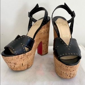 Authentic Christian Louboutin wedge